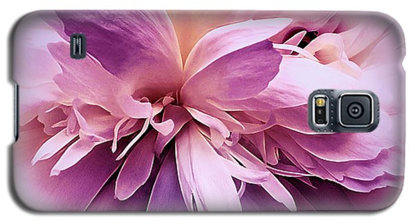Galaxy S5 Case featuring the photograph Plum Ballet Powder Puff by Darlene Kwiatkowski