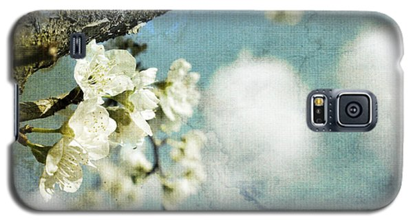 Plum Blossoms And Puffy Clouds Galaxy S5 Case by Cindy Garber Iverson
