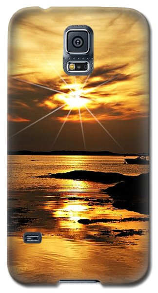 Plum Cove Beach Sunset E Galaxy S5 Case