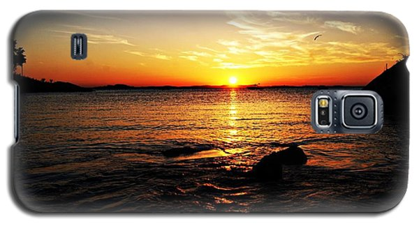 Plum Cove Beach Sunset G Galaxy S5 Case by Joe Faherty