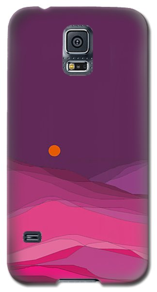 Galaxy S5 Case featuring the digital art Plum Hills II by Val Arie