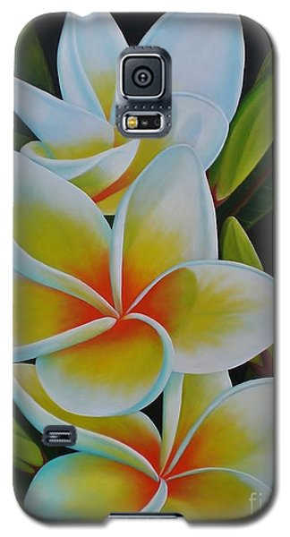 Galaxy S5 Case featuring the painting Plumeria by Paula L