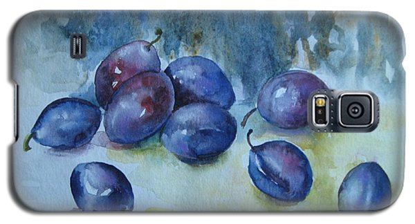 Galaxy S5 Case featuring the painting Plums by Elena Oleniuc