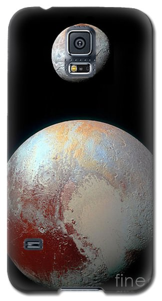 Galaxy S5 Case featuring the photograph Pluto And Charon by Nicholas Burningham