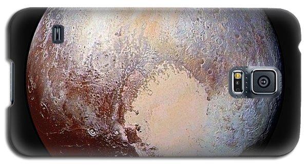 Pluto Dazzles In False Color - Square Crop Galaxy S5 Case