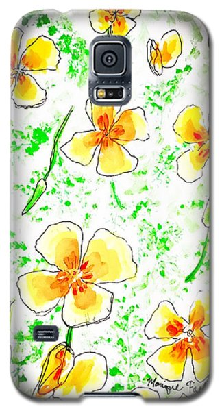Pocket Full Of Poppies Galaxy S5 Case