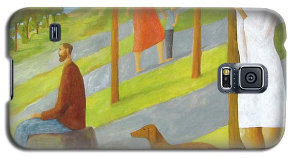 Galaxy S5 Case featuring the painting Poets Hill by Glenn Quist