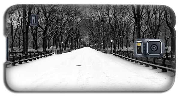 Poet's Walk In Snow Galaxy S5 Case by Mark Garbowski