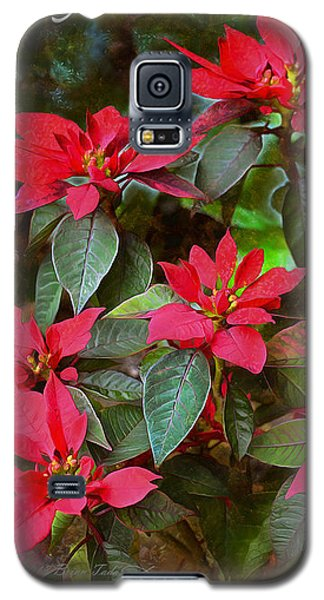 Poinsettia Christmas Galaxy S5 Case