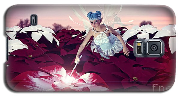 Poinsettia Snow Fairy Galaxy S5 Case by Methune Hively