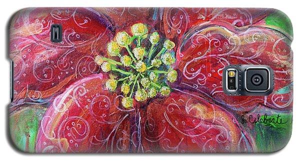 Poinsettia Galaxy S5 Case