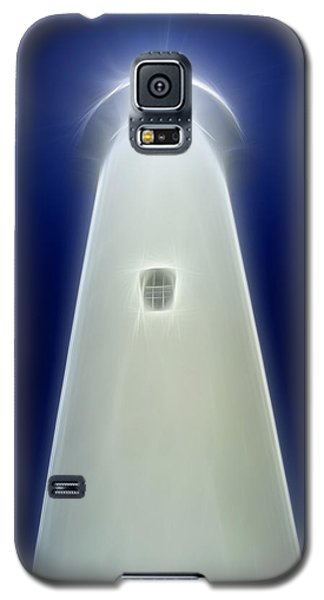 Galaxy S5 Case featuring the digital art Point Arena Lighthouse by Holly Ethan