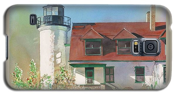 Galaxy S5 Case featuring the painting Point Betsie Lighthouse by LeAnne Sowa