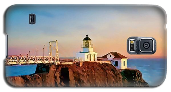 Galaxy S5 Case featuring the painting Point Bonita Lighthouse by Douglas MooreZart