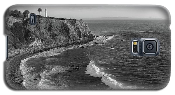 Point Vicente Lighthouse Palos Verdes California - Black And White Galaxy S5 Case
