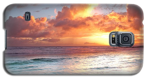 Poipu Beach Sunset Galaxy S5 Case by Roger Mullenhour