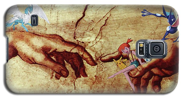 Galaxy S5 Case featuring the digital art Pokeangelo Sistine Chapel by Greg Sharpe