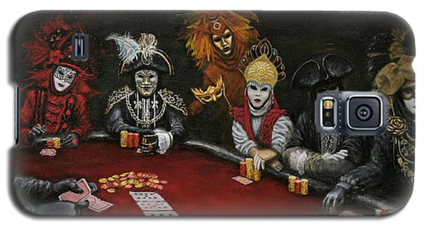 Galaxy S5 Case featuring the painting Poker Face II by Jason Marsh
