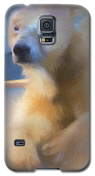 Polar Bear In Chalk Galaxy S5 Case