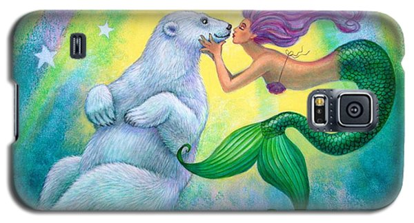 Polar Bear Kiss Galaxy S5 Case by Sue Halstenberg