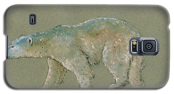 Polar Bear Galaxy S5 Case - Polar Bear Original Watercolor Painting Art by Juan  Bosco