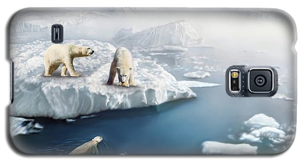 Galaxy S5 Case featuring the digital art Polar Bears by Thanh Thuy Nguyen