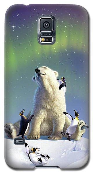 Polar Bear Galaxy S5 Case - Polar Opposites by Jerry LoFaro