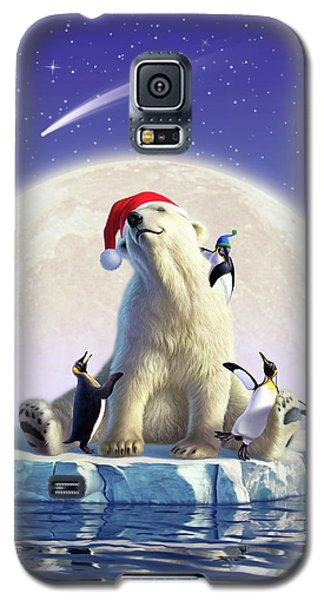 Polar Bear Galaxy S5 Case - Polar Season Greetings by Jerry LoFaro