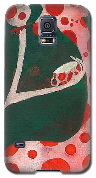 Galaxy S5 Case featuring the painting Polka Dots by Maya Manolova