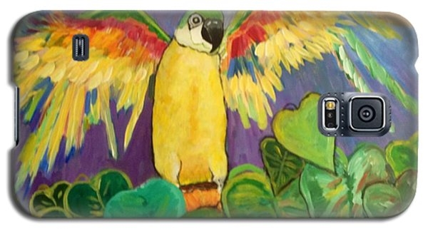 Polly Wants More Than A Cracker Galaxy S5 Case by Rosemary Aubut