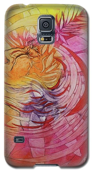 Galaxy S5 Case featuring the drawing Polynesian Warrior by Marat Essex