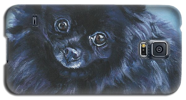 Pomeranian Black Galaxy S5 Case