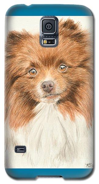 Pomeranian Orange Parti-colored Galaxy S5 Case