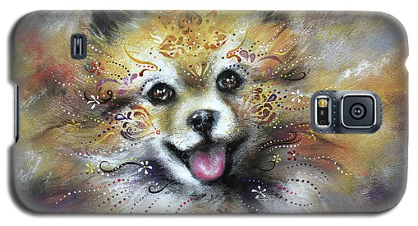 Galaxy S5 Case featuring the mixed media Pomeranian by Patricia Lintner