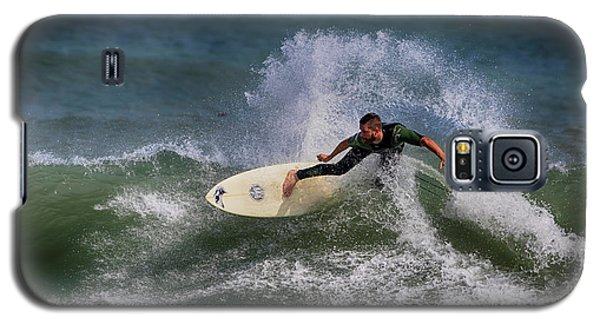 Galaxy S5 Case featuring the photograph Ponce Surfer 2017 by Deborah Benoit