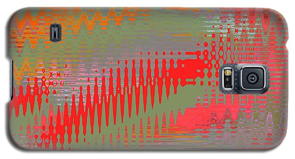 Galaxy S5 Case featuring the digital art Pond Abstract - Summer Colors by Ben and Raisa Gertsberg