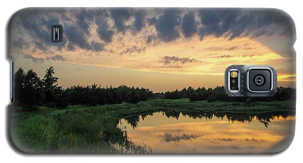 Pond And Sunset Galaxy S5 Case