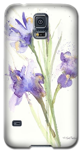 Galaxy S5 Case featuring the painting Pond Iris by Sandra Strohschein