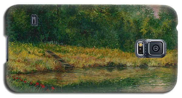 Pond With Spider Lilies Galaxy S5 Case