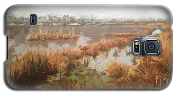 Pondering On A Pond Galaxy S5 Case by Nancy  Parsons