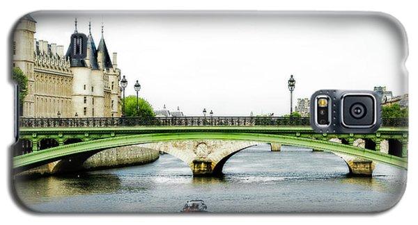 Pont Au Change Over The Seine River In Paris Galaxy S5 Case