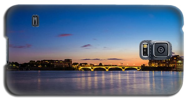 Galaxy S5 Case featuring the photograph Pont Des Catalans And Garonne River At Night by Semmick Photo