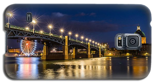 Galaxy S5 Case featuring the photograph Pont Saint-pierre With Street Lanterns At Night by Semmick Photo