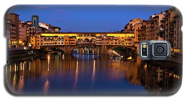 Galaxy S5 Case featuring the photograph Ponte Vecchio Dusk  by Harry Spitz
