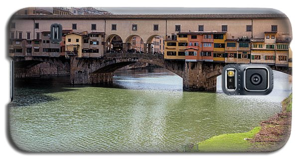 Galaxy S5 Case featuring the photograph Ponte Vecchio Florence Italy II by Joan Carroll