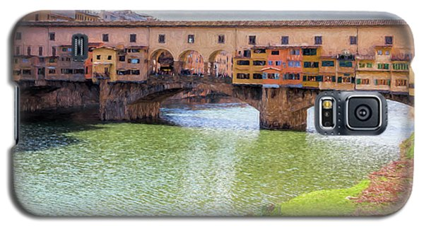 Galaxy S5 Case featuring the photograph Ponte Vecchio Florence Italy II Painterly by Joan Carroll
