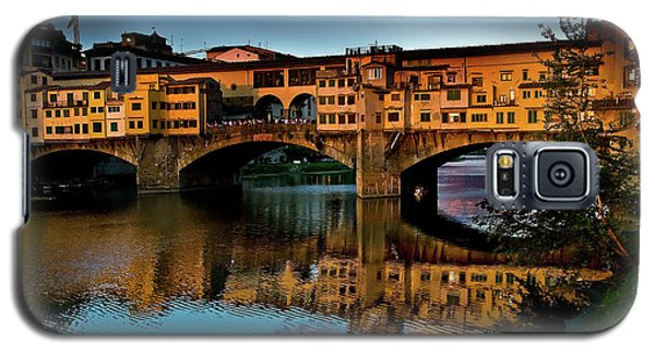 Galaxy S5 Case featuring the photograph Ponte Vecchio From West  by Harry Spitz