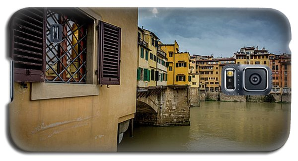 Galaxy S5 Case featuring the photograph Ponte Vecchio by Sonny Marcyan