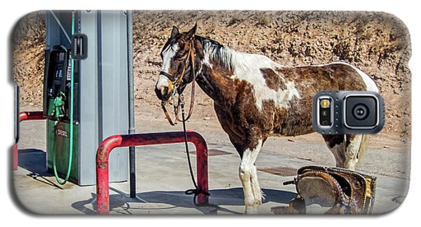 Galaxy S5 Case featuring the photograph Pony At The Pump by Britt Runyon