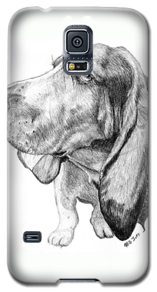 Galaxy S5 Case featuring the drawing Pooch by Mike Ivey